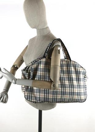 Большая сумка в клетку от burberry london nova check дорожный рюкзак - шоппер
