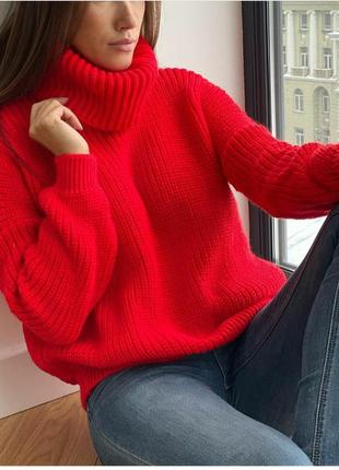 Новый!теплый вязаный свитер