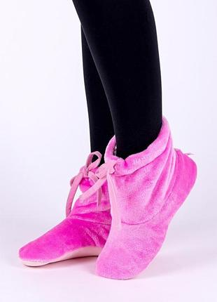 Тапки плюшевые носочки на шнурке