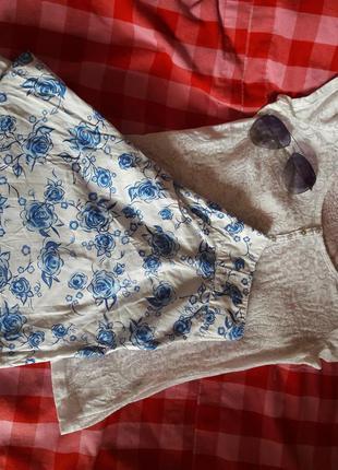 Легкая юбка на лето в цветы