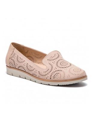 Перфорированные балетки туфли лоферы мокасины из искусственной замши от jenny fairy