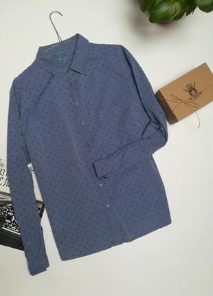 Синя жіноча бавовняна  сорочка фірми boden розмір xl-xxl.