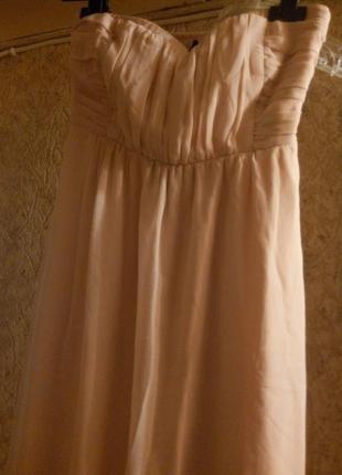 c436c5894df Шифоновое платье-сарафан спереди короткий сзади длинное