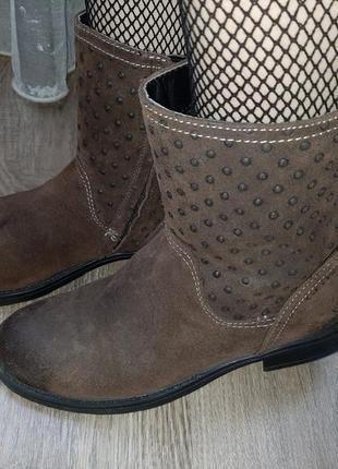 Итальянские кожаные весенние ботинки от geox