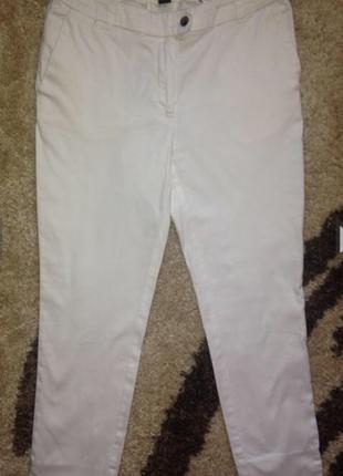 H&m укороченные белые брюки