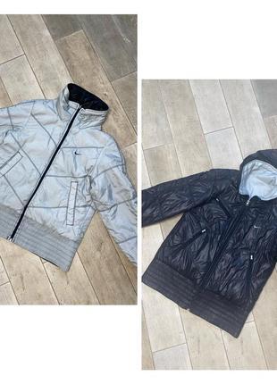 Чёрная спортивная куртка,двусторонняя куртка,серая короткая куртка