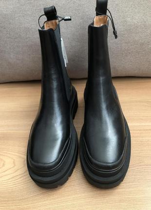 Кожаные ботинки ботильоны zara2 фото