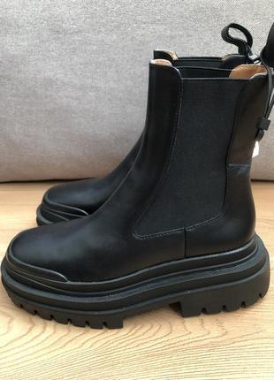 Кожаные ботинки ботильоны zara3 фото