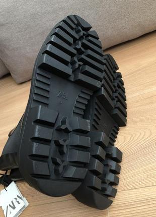 Кожаные ботинки ботильоны zara5 фото