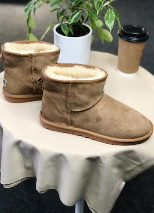 Женские ugg classic mini ii boot beige
