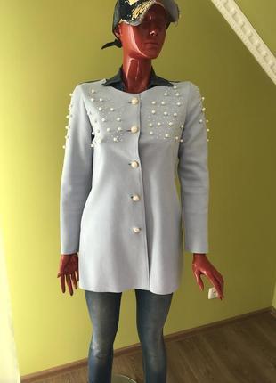 Кардиган голубенький замшевый кардиган пиджак жакет накидка кофта плащ