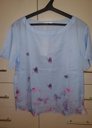 Футболка блуза женская нежно голубого цвета м
