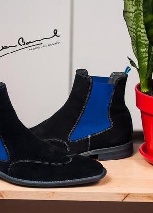 Челси floris van bommel, голландия 43р мужские ботинки челси кожаные замша