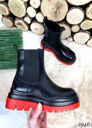 ❤ женские черные весенние демисезонные ботинки ❤
