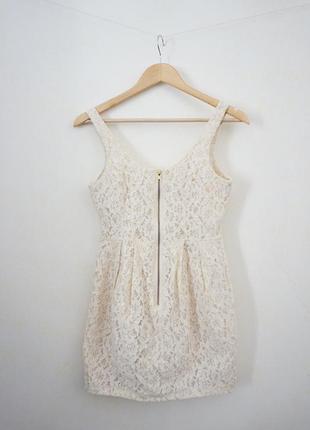 Нежное кремовое платье h&m