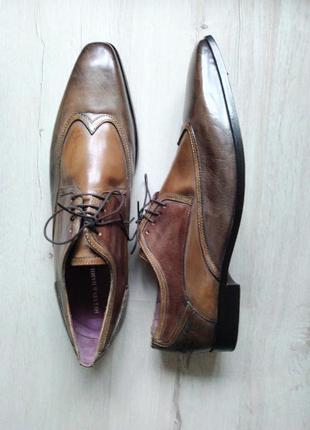 Мужские кожанные туфли ручной работы большого размера, р. 52 (50,51,52)