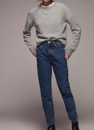 Zara джинсы мом синего цвета 36, 40, 42