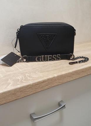 Черная сумка кроссбоди guess на плечо оригинал