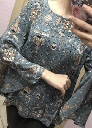 Рубашка блуза nutmeg расклешенные рукава