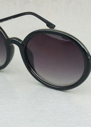Christian dior очки женские солнцезащитные круглые черные с градиентом