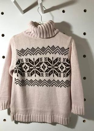 Нежный свитер с красивым орнаментом