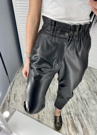 Брюки, штаны baggy zara кожаные 34,36,38