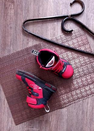 26р.|16см. деми ботинки,сапоги,липучки,молния ,красные