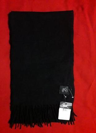 Базовый черный шарф кашемир и шерсть (италия)