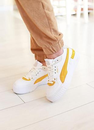 Puma cali sport heritage white/teal 🆕шикарные кроссовки 🆕купить наложенный платёж