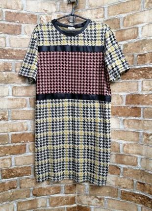 Платье с принтом гусиная лапка