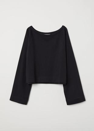Черный свитшот с широкими рукавами (6221627rp1)