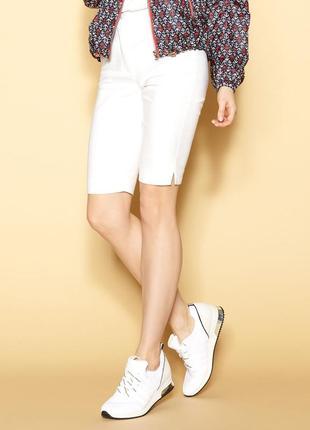 Шорты до колена короткие женские на резинке стрейчевые летние zaps siva 006 молочные белые