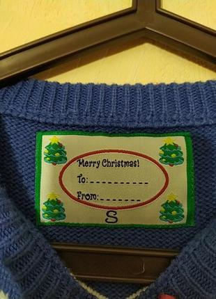 Шикарный натуральный новогодний свитер свитерок санта клаус3 фото