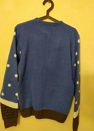 Шикарный натуральный новогодний свитер свитерок санта клаус5 фото