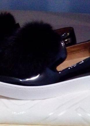 Туфли слипоны мокасины