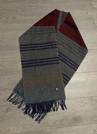 Lyle scott, мужской фирменный шерстяной шарф, оригинал. новый
