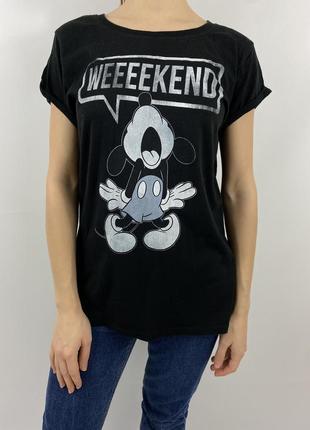Чёрная футболка с микки максом