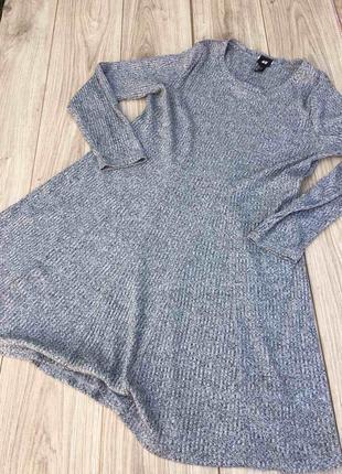 Платье h&m летнее в рубчик тренд легкое zara asos тренд мини миди длинное