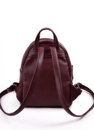 Маленький бордовый рюкзак городской молодежный марсала2