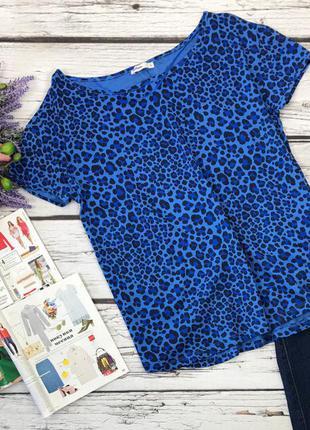 Яркая футболка расслабленного кроя с леопардовым принтом  ts3059  lft by zara