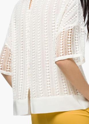 Massimo dutti блузка из кружева кроше с шелком