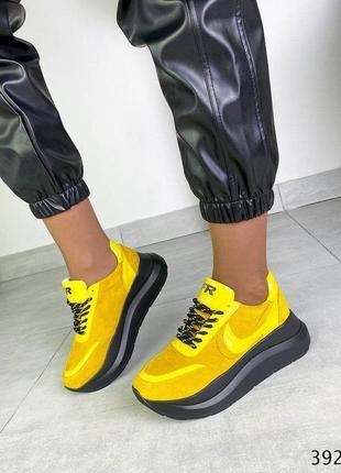 Кроссовки кожаные женские fr