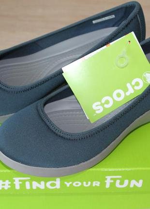 Продам туфельки на танкетке crocs, оригинал из сша, размер w7
