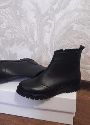 Акция! кожаные ботинки броги демисезон