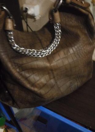 Шикарная сумка 100%кожа крокодила