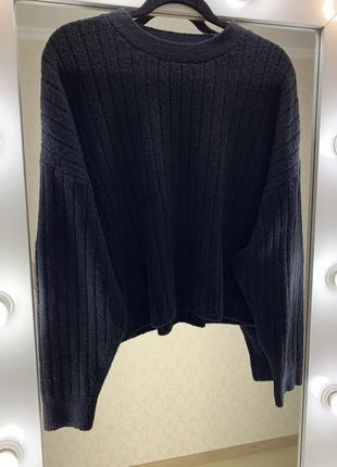 Объёмный свитер в широкий рубчик asos2 фото