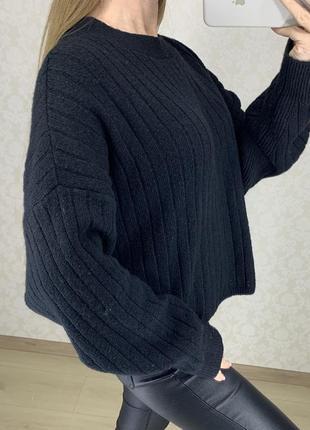 Объёмный свитер в широкий рубчик asos4 фото