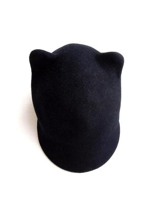 Жокейка шляпа шапка бейс кепка с ушками кошки из 100% шерсти от h&m