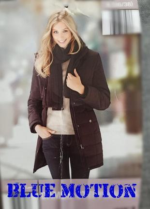 Женское стеганное пальто blue motion