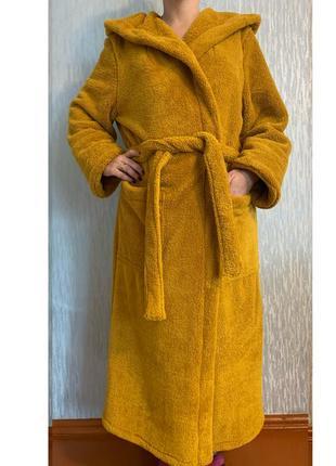 Теплий махровий халат